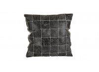 PTMD 659759 Leather Greycushion with fill square S