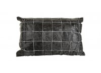 PTMD 659760 Leather Grey cushion with fill rectangle