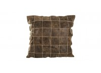 PTMD 659762 Leather Brown dark cushion square S