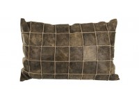 PTMD 659763 leather brown cushion with fill rectangle