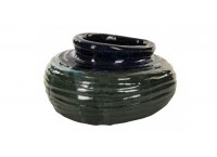 PTMD 663716 Cong organic blue ceramic pot Mouth s